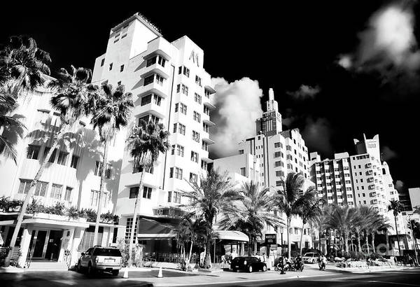 Collins Avenue Art Print featuring the photograph Collins Avenue by John Rizzuto