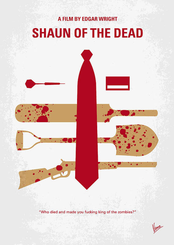 No349 My Shaun of the Dead minimal movie poster by Chungkong Art