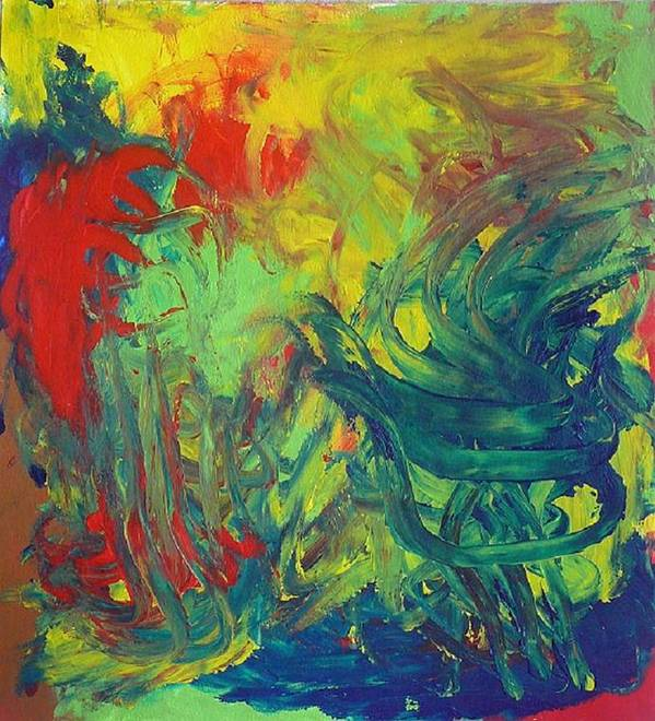 Abstract Art Print featuring the painting Diablo Garden by Richard OBrien