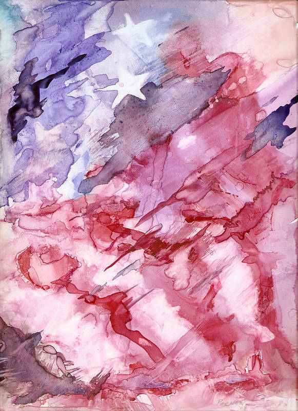 Flag Art Print featuring the painting Old Glory by Roger Parnow