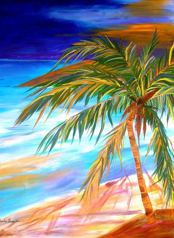 Landscape Art Print featuring the painting Palma Tropical II by Maritza Bermudez