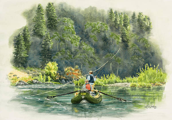 October Morning Fishing the Trinity River by Link Jackson