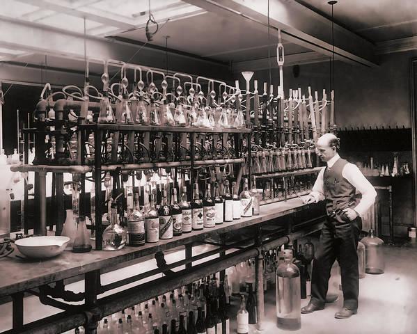 Whiskey Test Lab  1914 by Daniel Hagerman