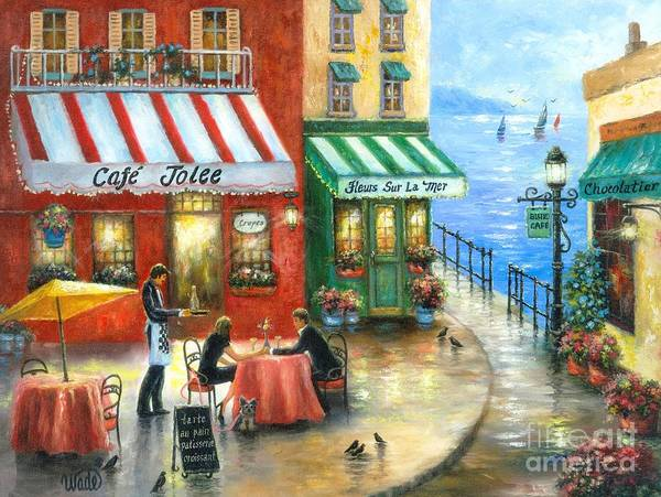 French Cafe By The Sea by Vickie Wade