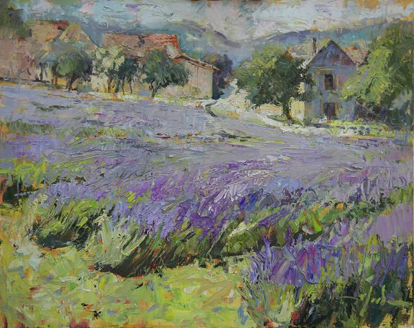 Lavender Fields - Lherm, France by Randall Scott Harden