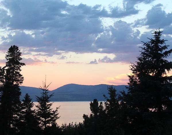 Sunset on Flathead Lake by Paula Daniels