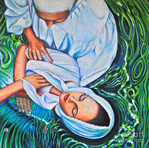 Rappahannock River Art Print featuring the painting Rappahannock Baptism-900 by Mirinda Reynolds