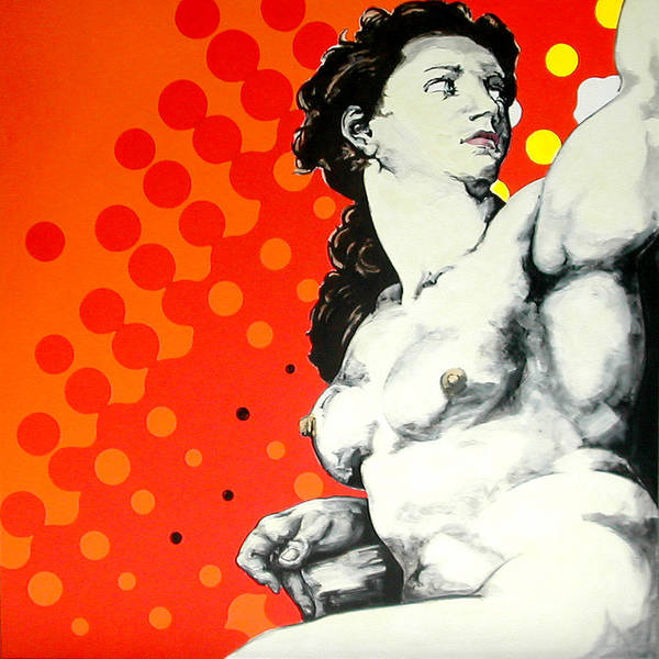 Pop Art Print featuring the painting Eva by Jean Pierre Rousselet