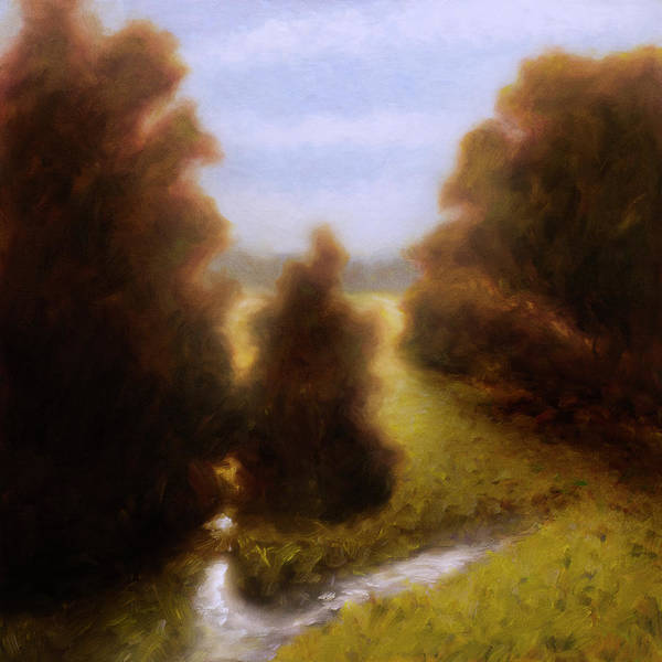 Art Print featuring the painting Morning in Texas - No 3 by Rob Blauser