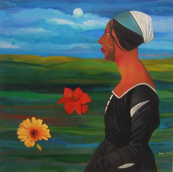 Figure Art Print featuring the painting Revealed Truths and Myths 7 by Joyce Owens