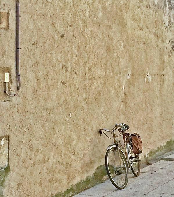 Europe Art Print featuring the digital art Provencial Bike by Scott Waters