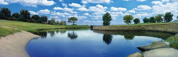 Clouds Art Print featuring the photograph Lakeridge Duck Pond by Robert Hudnall