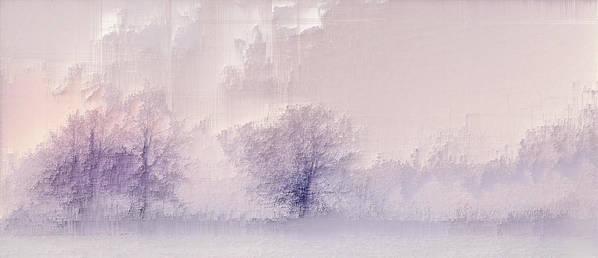 Art Print featuring the digital art Winter landscape by Jenny Filipetti