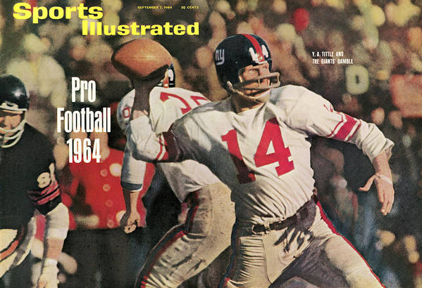 Magazine Cover Art Print featuring the photograph New York Giants Qb Y.a. Tittle, 1963 Nfl Championship Sports Illustrated Cover by Sports Illustrated