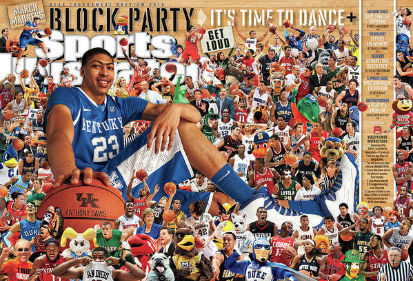 Magazine Cover Art Print featuring the photograph University Of Kentucky Anthony Davis, 2012 March Madness Sports Illustrated Cover by Sports Illustrated