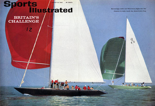 Magazine Cover Art Print featuring the photograph 1964 Americas Cup Preview Sports Illustrated Cover by Sports Illustrated