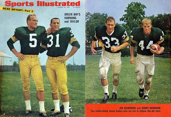 Magazine Cover Art Print featuring the photograph Green Bays Hornung And Taylor Sports Illustrated Cover by Sports Illustrated