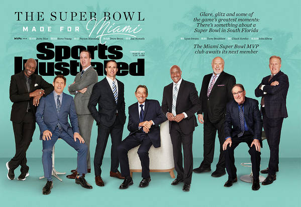 Magazine Cover Art Print featuring the photograph The Super Bowl Made For Miami Sports Illustrated Cover by Sports Illustrated