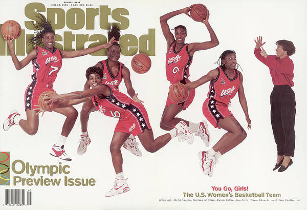The Olympic Games Art Print featuring the photograph Usa Womens Basketball Team, 1996 Atlanta Olympic Games Sports Illustrated Cover by Sports Illustrated