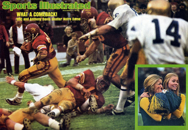Magazine Cover Art Print featuring the photograph What A Comeback Usc And Anthony Davis Shatter Notre Dame Sports Illustrated Cover by Sports Illustrated