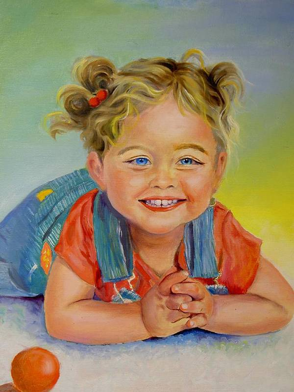 Portrait Art Print featuring the print Herbs Grandaughter by George Markiewicz