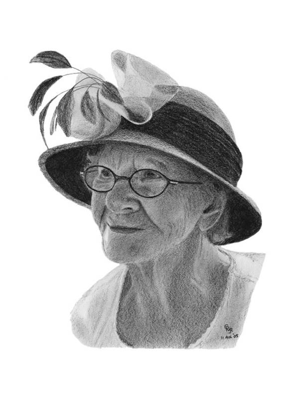 Liz Art Print featuring the drawing Liz by Charles Vogan