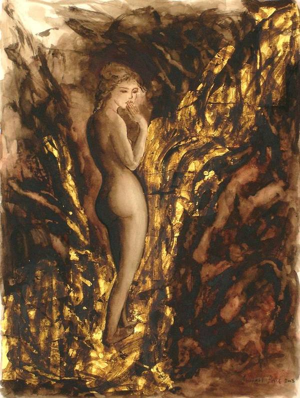 Nude Art Print featuring the painting The Muse by Michael Price