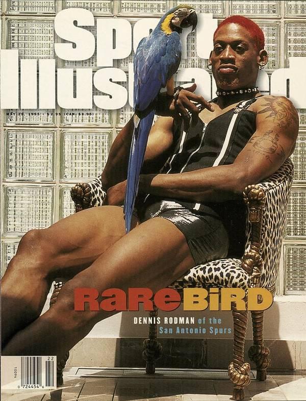 Magazine Cover Art Print featuring the photograph San Antonio Spurs Dennis Rodman Sports Illustrated Cover by Sports Illustrated