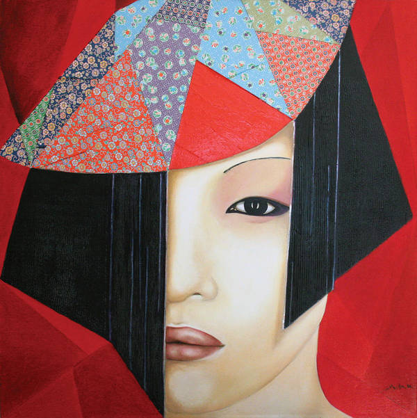 Origami Art Print featuring the painting Origami by Alexandra Louie