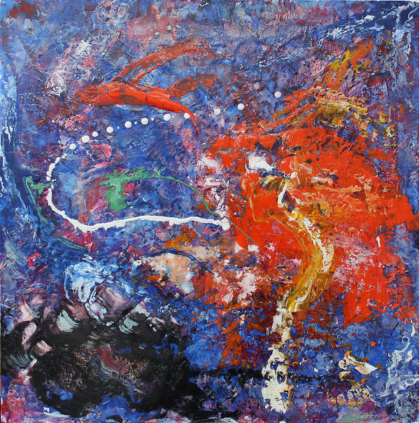 Abstract Art Print featuring the painting Before The Storm by Detlef Gotzens