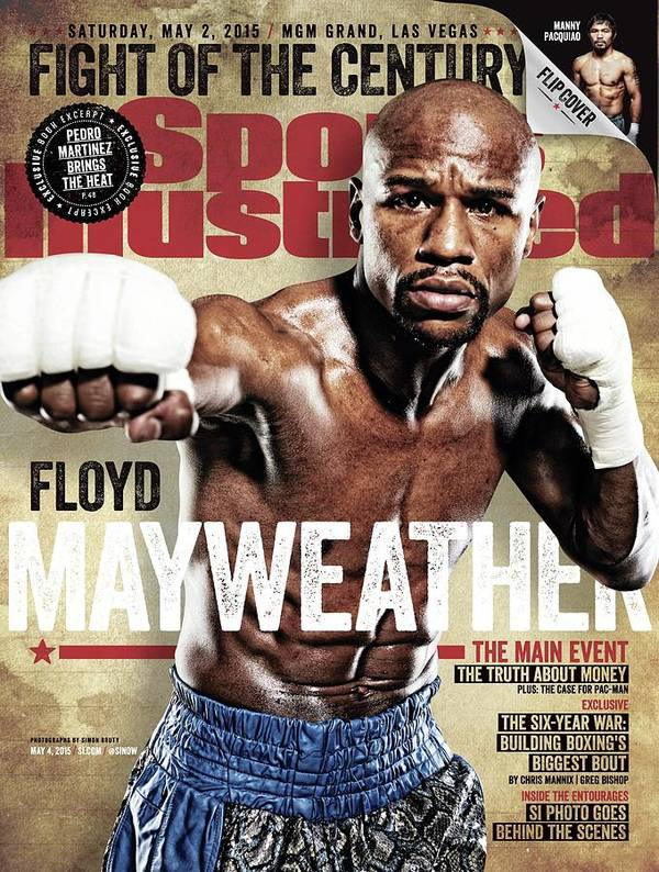 Floyd Mayweather Jr., 2015 Wbawbcwbo Welterweight Title Sports Illustrated Cover Art Print