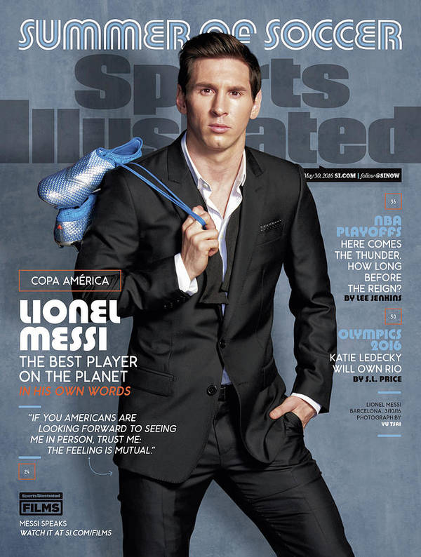Lionel Messi The Best Player On The Planet Sports Illustrated Cover Art Print