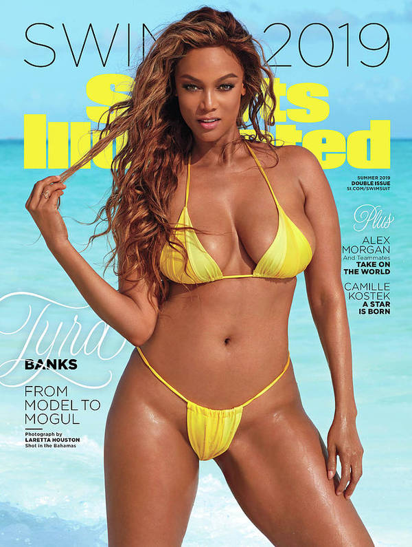 Magazine Cover Art Print featuring the photograph Tyra Banks Swimsuit 2019 Sports Illustrated Cover by Sports Illustrated
