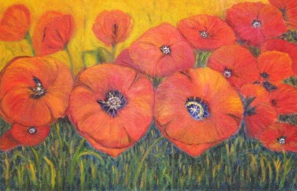 Poppies Art Print featuring the painting Poppies For My Sister by Patricia Ortman