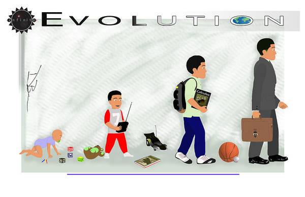 Inspirational Art Art Print featuring the digital art Evolution by Dion Baker