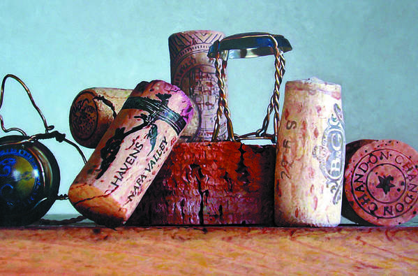 Wine Art Print featuring the painting Domain Chandon by Randy Ford