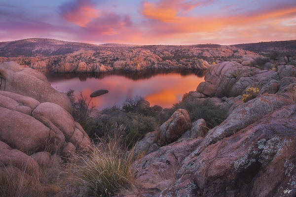 Watson Lake Print featuring the photograph Granite Sorbet by Peter Coskun