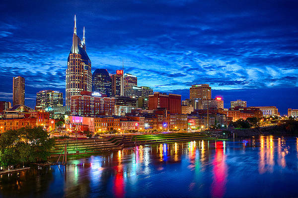 Nashville Art Print featuring the photograph Nashville Skyline by Dan Holland