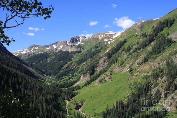 Colorado San Juan Mountains Art Print featuring the relief Mountain Valley by Marta Alfred