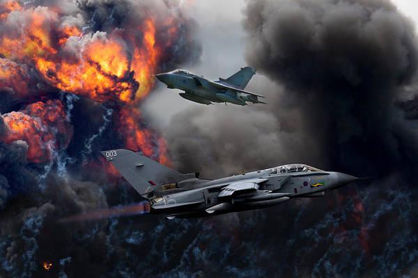 Tornado Art Print featuring the photograph Tornado Gr4 Attack by Ken Brannen
