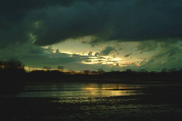 Sunset Art Print featuring the photograph 021109-24 by Mike Davis
