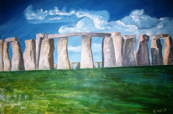 Stonehenge. Uk. Britain. Art Print featuring the print Stonehenge by Carl Lucia