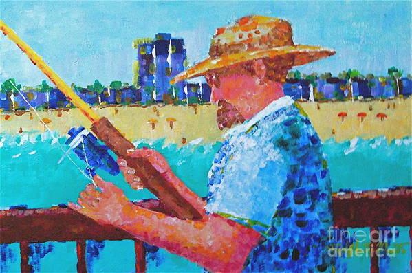 Beach Art Art Print featuring the painting Artist Life by Art Mantia