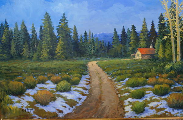 Landscape Art Print featuring the painting Merories Take Me Home by Bob Adams