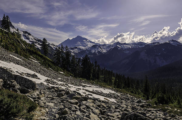 Washington Art Print featuring the photograph Mount Baker From The Lake Ann Trail 2 by Paul Conrad