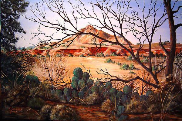Palo Duro Canyon Art Print featuring the painting Palo Duro Canyon by Cynara Shelton