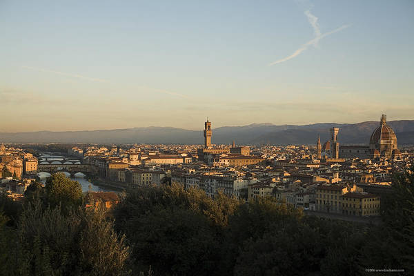 Landscape Art Print featuring the photograph Sunrise In Florence by Luigi Barbano BARBANO LLC