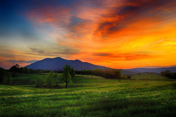 Farm Art Print featuring the photograph Sunset Pasture by Kevin Senter