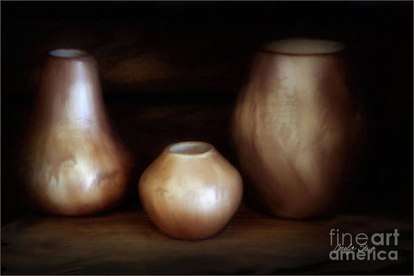 Still Life Art Print featuring the painting The Potter by Carolyn Staut