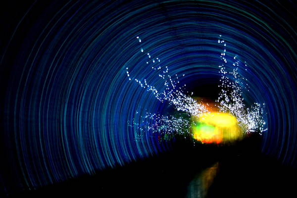 Abstract Art Print featuring the photograph Tunnel Vision II by Erika Lesnjak-Wenzel